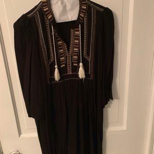 Isabel Marant Etoile Black Embroidered Mini Dress
